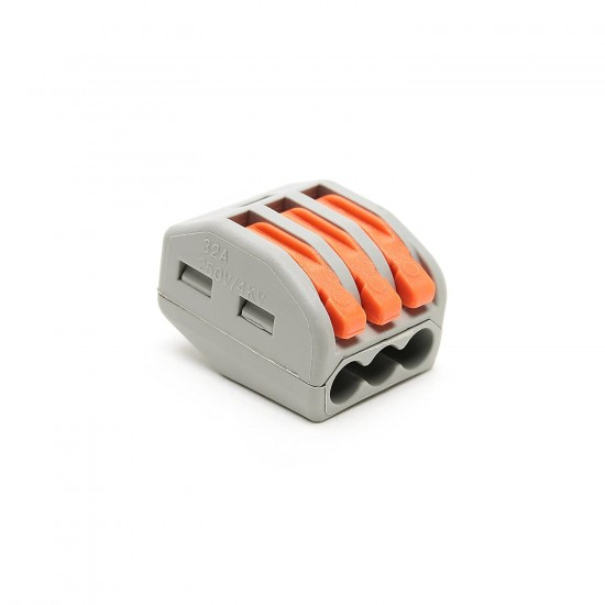 Wago 222-413 Compact splicing connector; 3-conductor terminal block